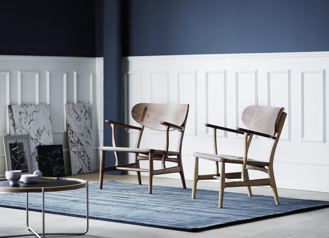 Carl Hansen CH22 lounge chair by Hans J. Wegner